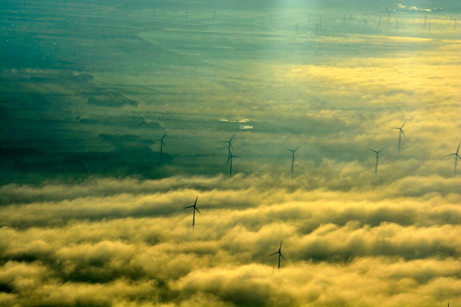 wind generators in fog