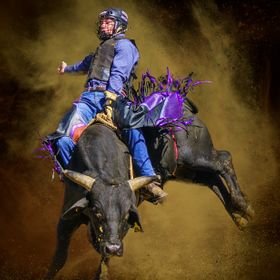 2014 Dayboro Rodeo - I loved the expression on this young rider wearing the protective head gear that has become a common sight but the contest i...