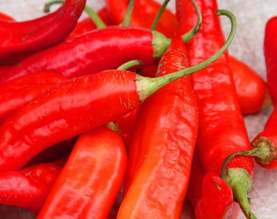 Red Peppers at the Otavalo market