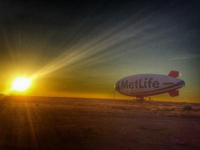 MetLife Blimp at Sunrise