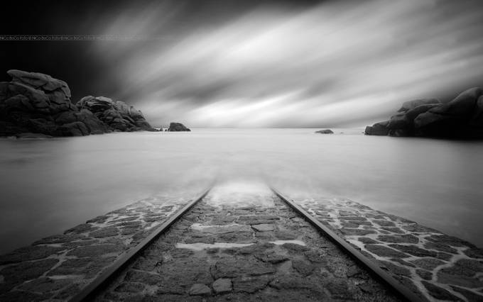 Entering the Ocean by NiCoBoCo - Empty Railways Photo Contest