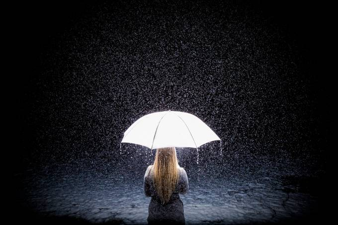 A Girl In The Rain by rossglasgow - Mysterious Shots Photo Contest
