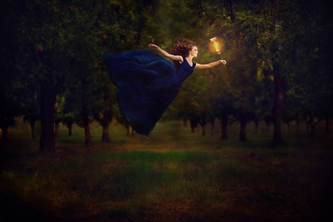 The Light that guides her by adelynbaber - The Art Of Levitation Photo Contest