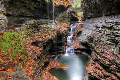 Rainbow Falls in Autumn