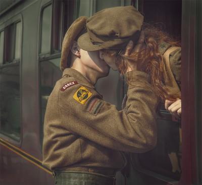 Departing kiss