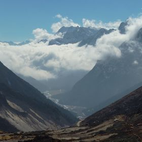 Valley on the way to Zero Point (Indo-China border) from Lachung, Sikkim, India.