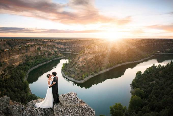Spain river wedding sunset Marta & Alejandro final by tomarcher - Love Is In The Air Photo Contest