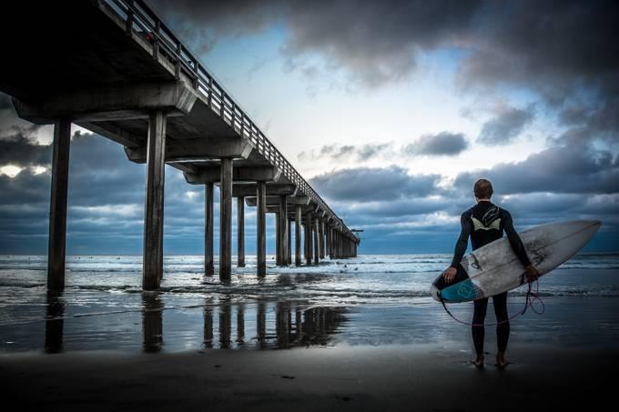 La Jolla Surfer by matthewburlile - Healthy Lifestyles Photo Contest