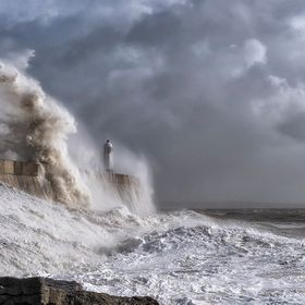 Porthcawl a few hours before St Jude was about to hit the coast.