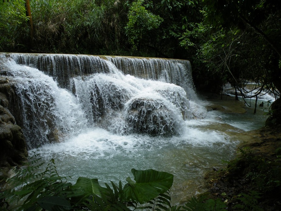 Section of Kuang Si Falls, Laos
