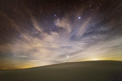 Sand Dune Night Landscape