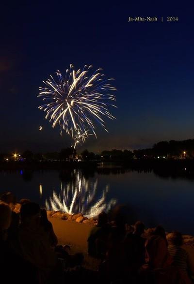 Canada day July 1, 2014 Henderson Lake Lethbridge