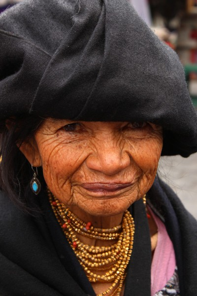 Homeless Woman in the Market