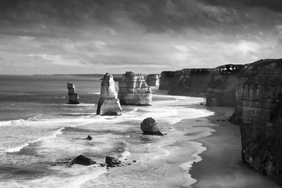 Tweleve Apostles with Ansel Adams effect