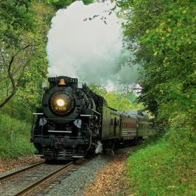 The steam engine 765 visiting the Cuyahoga Valley National Park.