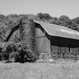 An old barn in western Maryland along the Mountain Maryland Scenic Byway.