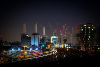 Battersea Power Station.....Chimneys & Cranes!