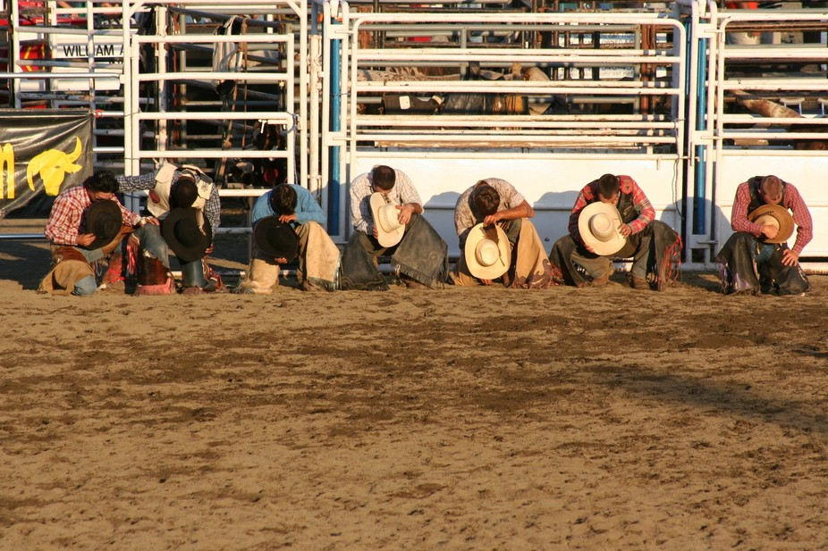 I was watching a rodeo at the county fair.