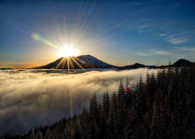 Above the Fog by kathykuhn100 - Sun Flares Photo Contest