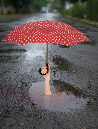 Lady in a Puddle