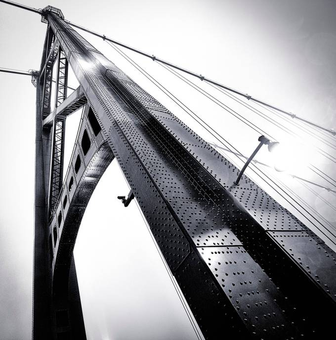 Lions Gate B&W Tower by xavierw - Metallic Matter Photo Contest