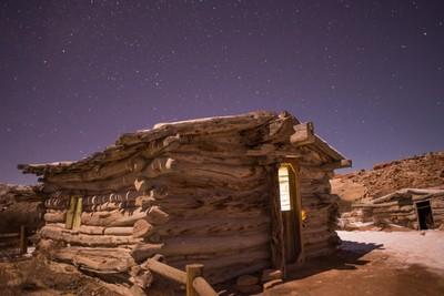 Wolfe Ranch in moonlight