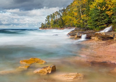 Elliot Falls and Pictured Rocks Surf