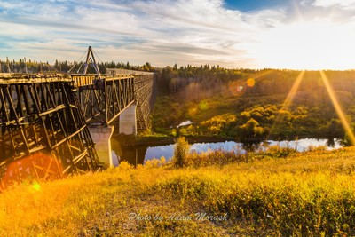 Trestle Bridge at Sunset