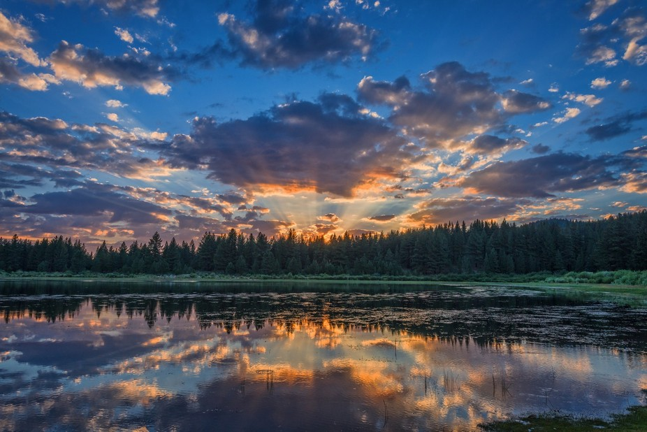 A spectacular sky finished the day at Spooner Lake, Nevada.  We started out with thunder storms a...