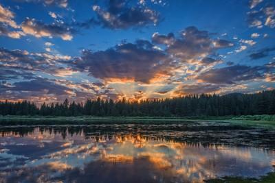 Spooner Lake Sunset