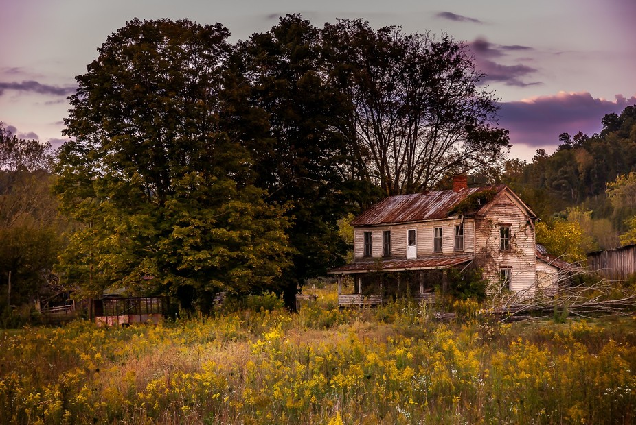 Abandoned home in the country side