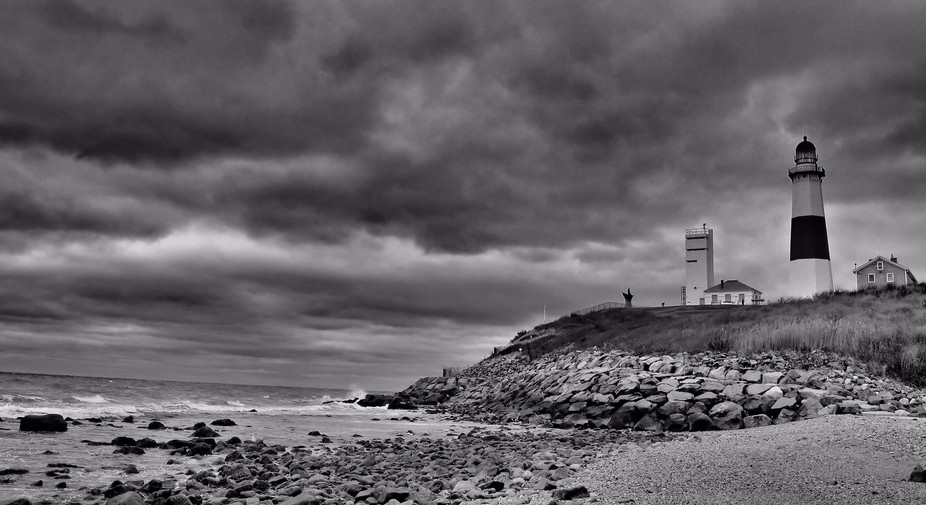 The very end of Long Island, NY where a light house sits. A beautiful place to visit and to photo...