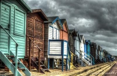 Moody Sky over Frinton Huts