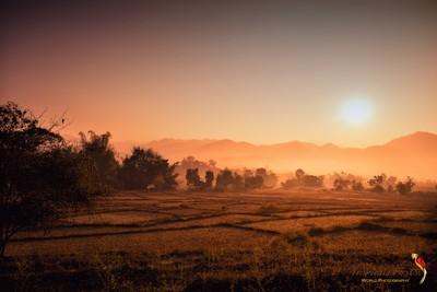 Golden Sunset in Pai, North Thailand