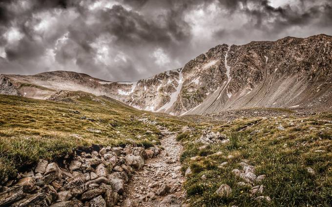 Mountain Trail by natosed - 500 Stormy Clouds Photo Contest