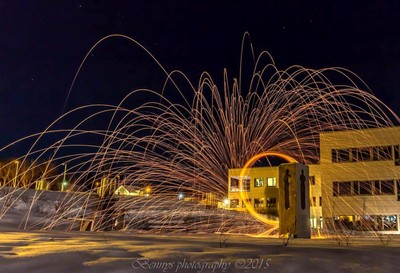 Burning steel wool. Fun:-)