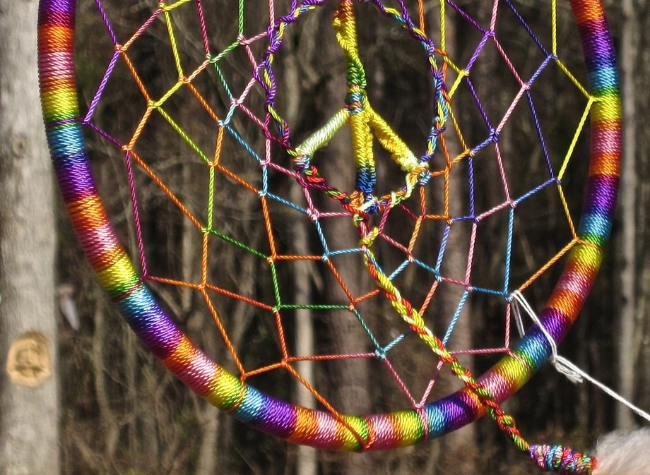 Peace message in this dream catcher