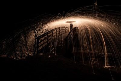 steel wool photos hevonlinna koski tl kaljasilta night fire 0772000