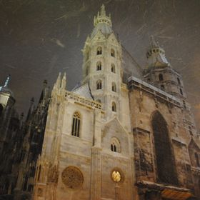 St. Stephen's Cathedral on a cold winter night.