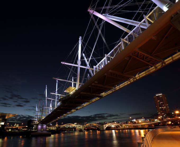 Brisbane bridge nights by SecaBlue - Under The Bridge Photo Contest