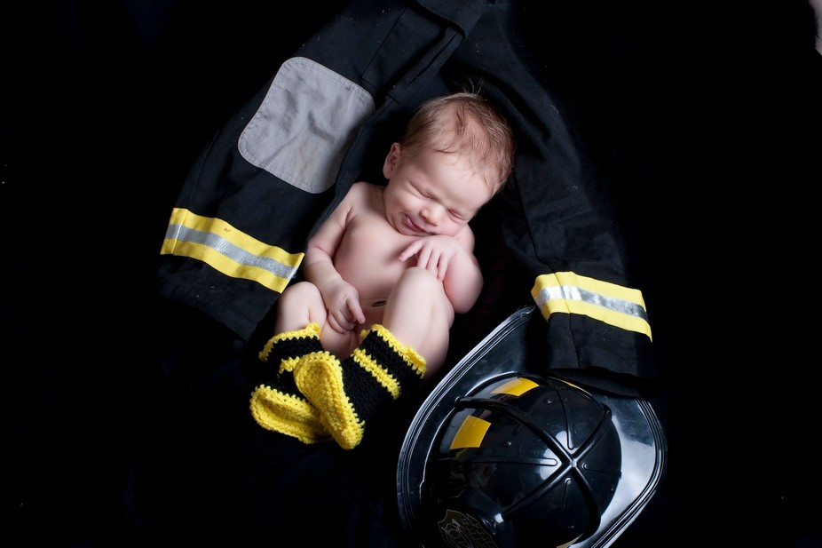 My daddy is a firefighter!