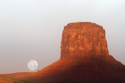 Red Butte Moonrise
