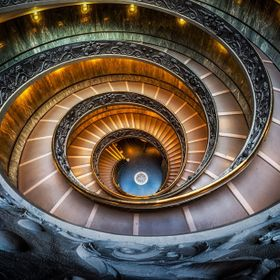 Vatican Museum spiral stairs. One of the most amazing museums i have ever been :) 