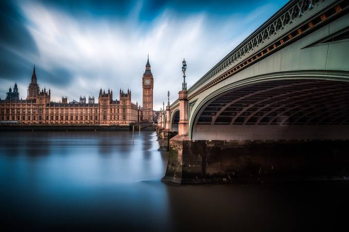 The Blue Thames by peppetorre - Under The Bridge Photo Contest