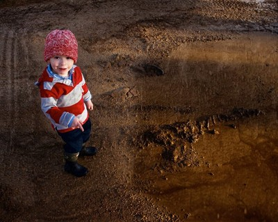 Mud jumping looks so yummy to a little boy......