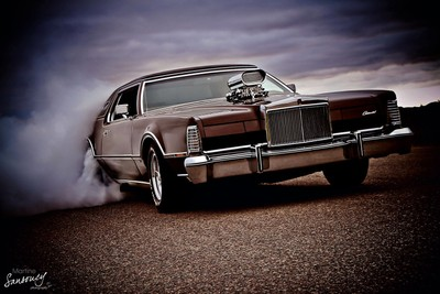Supercharged hot rod Lincoln