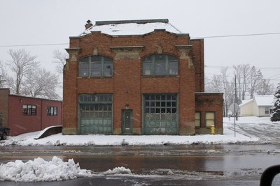 Old fire station in Newark, Ohio