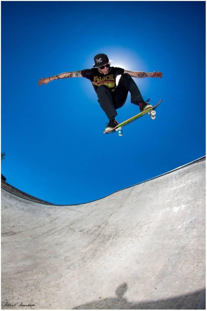 greg sk8 blue sky by Sensei - Healthy Lifestyles Photo Contest