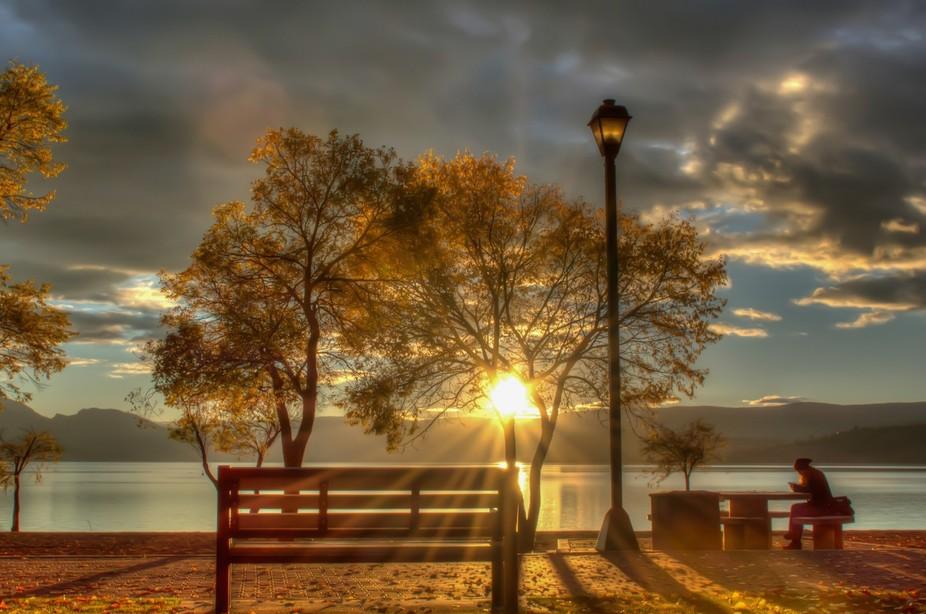 Sunset on Okanagan Lake, Kelowna, BC