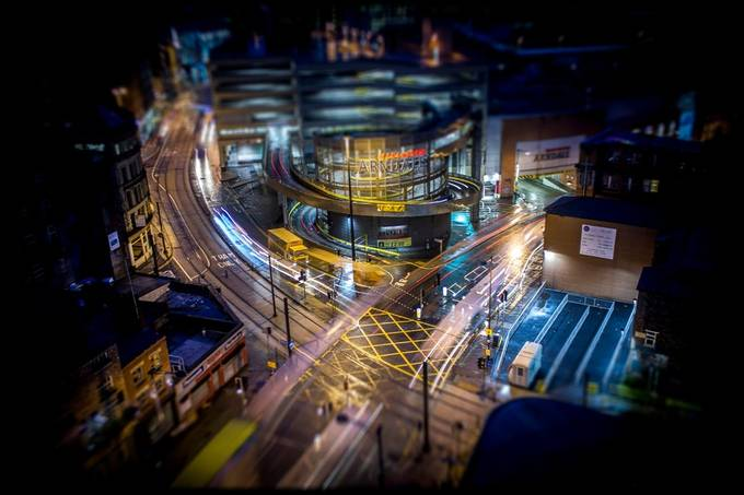 Manchester Tilt by Ian_B - City In The Night Photo Contest